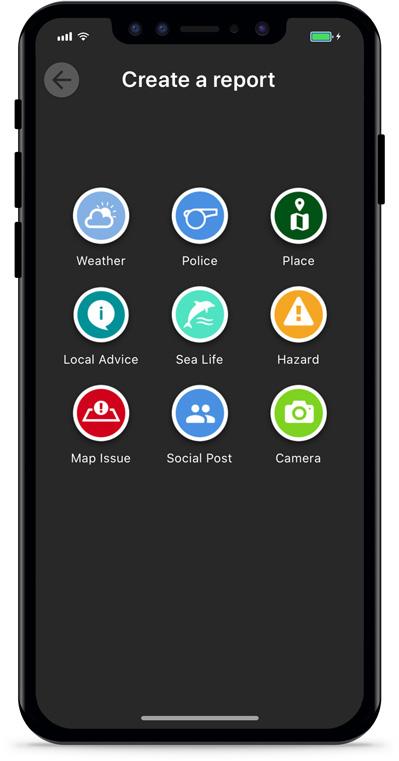 Argo Boating App Report Pins