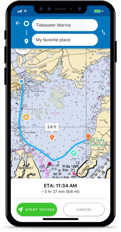 Argo Boating App Autoroute