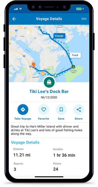 Argo Boating App Captain's Log