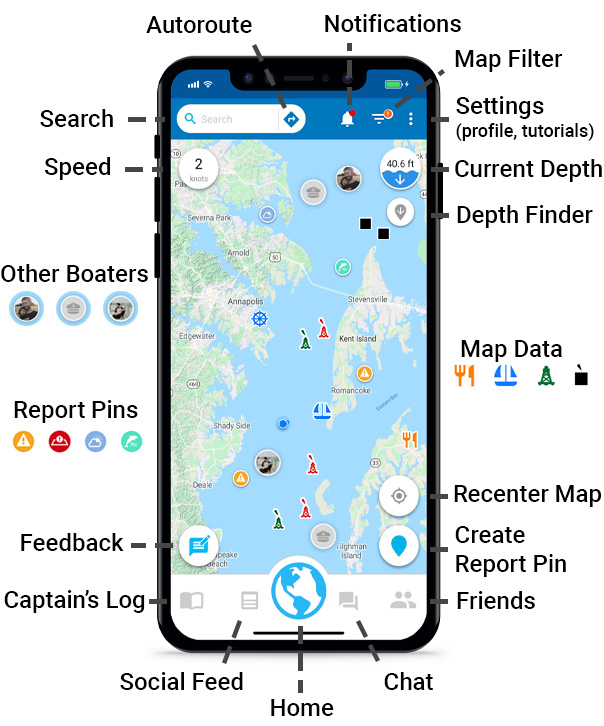 Argo Boating App Features Guide