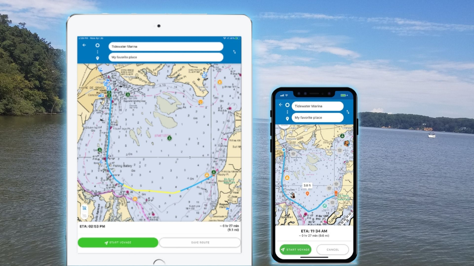 screen shot our app that has now grown to 25,000 boaters