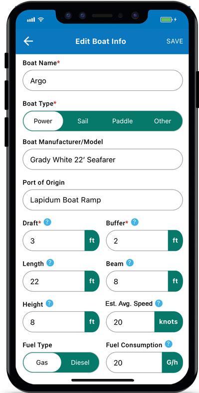 Image Showing Boat Information